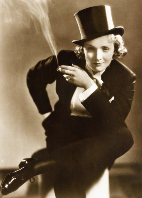 Marlene Dietrich :: Cross dressing is glamorous when women do it.