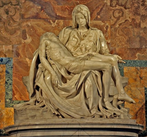 "Pieta, by Michelangelo :: ""War is good business – Invest your son"" —Allen Ginsberg"