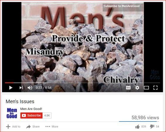 Men's Issues - 1. Men are good...