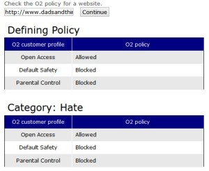 O2 and Symantec blocked dads&things