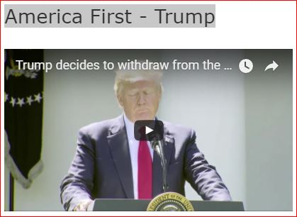 Washington Post video clip of Trump's Announcement of U.S. exit from Paris Climate Accord