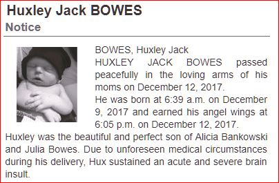 Obituary for Huxley, by his mothers