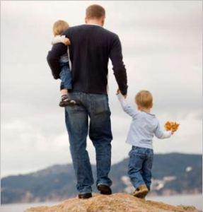 Dad and kids, from 21 Reasons Why Gender Matters