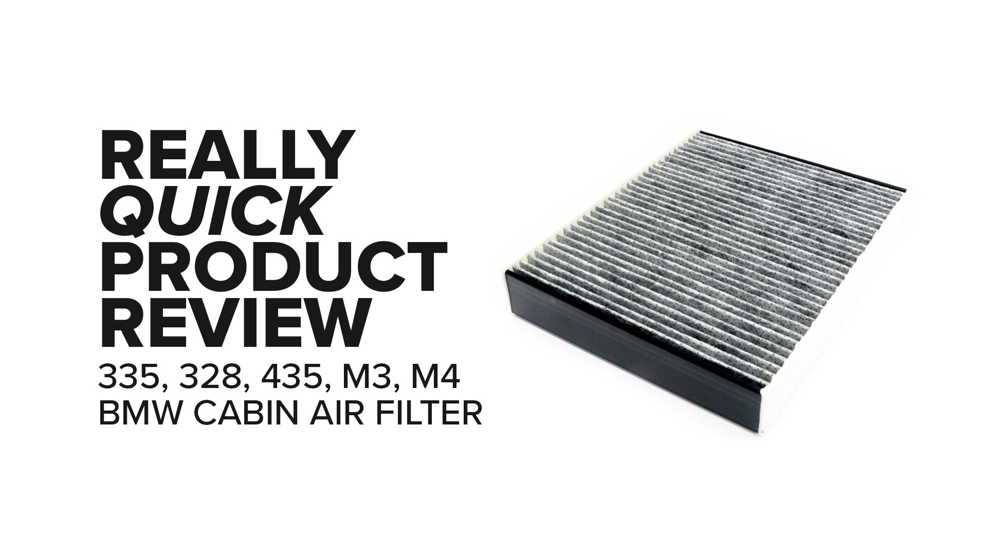 BMW M3 Cabin Air Filter (328i, M235i, M4, & More