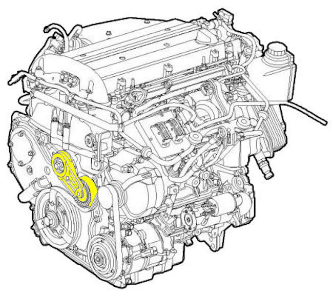 How to Replace the Serpentine Belt Tensioner on a Saab 9-3
