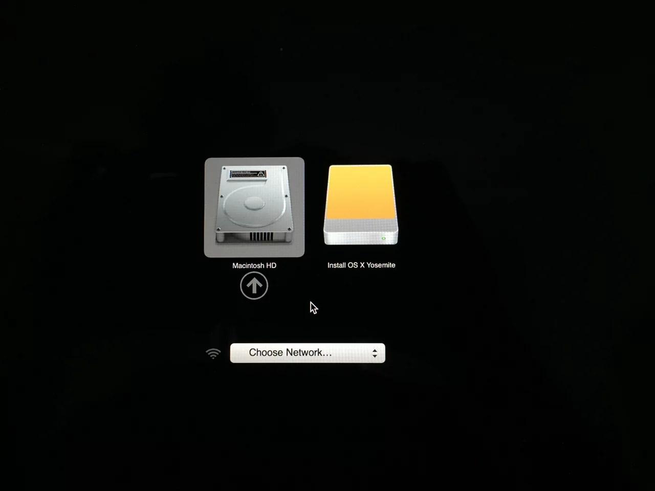 OSX Yosemite Boot