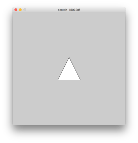 Processing's triangle() function