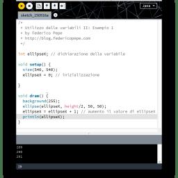 Variabili in Processing II: operazioni matematiche