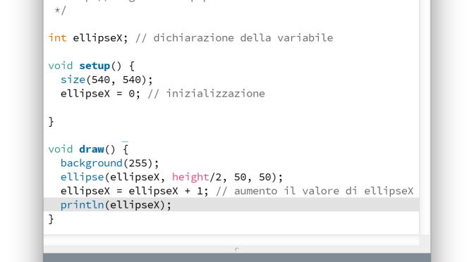 Debugging variabili in Processing