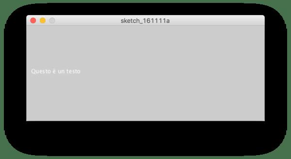 Funzione text() in Processing