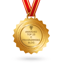 Code At Glance got award for best c programming blog