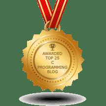 Code At Glance got award for best c programming blog