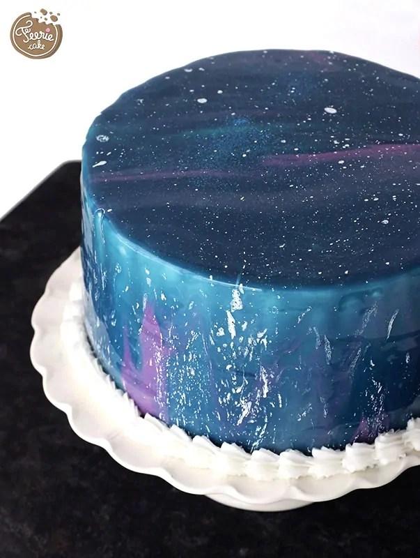 Gteau galaxie  La tendance glaage miroir  Ferie Cake
