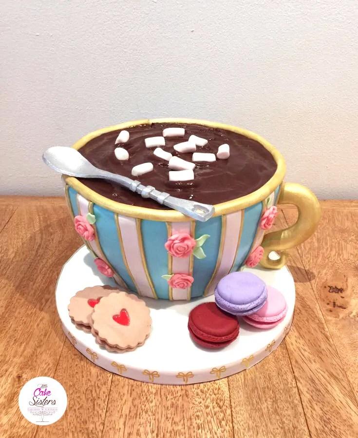 Die heie Schokolade Motivtorte  Ferie cake