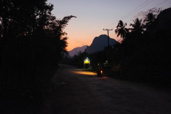Abend in Vang Vieng