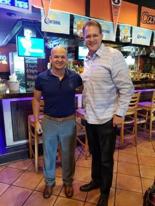 Jorge and Auburn football coach Gus Malzahn