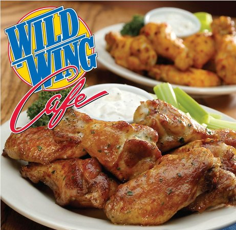 Traditional wing basket with celery and ranch.