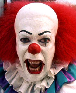 Clown from Stephen King's It Movie