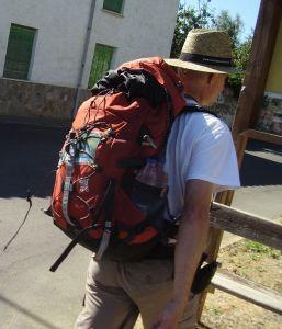 Frank Ohlsen auf dem Jakobsweg in Spanien