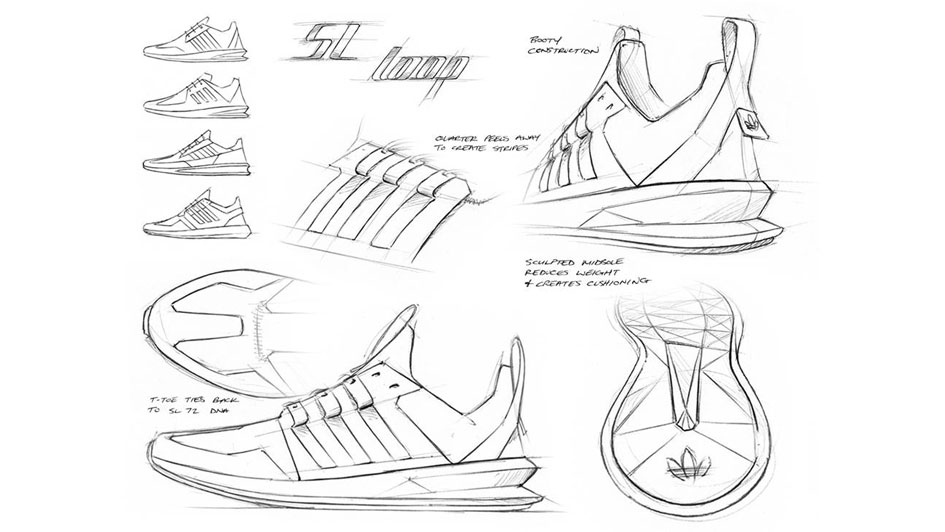 adidas經典系列SL環路設計草圖