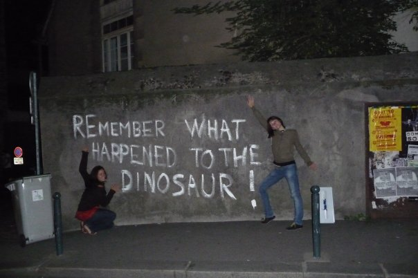 remember what happened to the dinosaurs