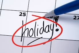public holiday on non-working day