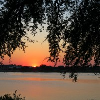 The Sunset Over Lake Granbury