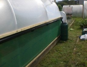 An innovative way of collecting rainwater from your Polytunnel