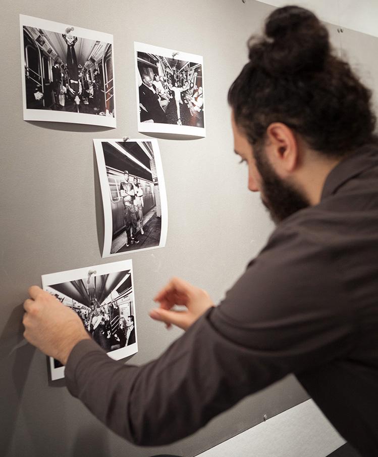 Alex Golshani preparing for portfolio review