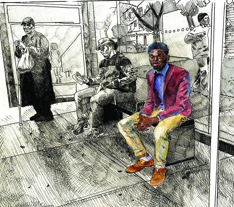 "Detail from Alejandro Bonilla's ""Black Man's World"""