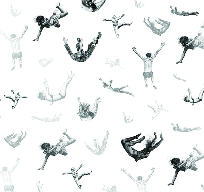 "Detail of Daniel Scanno's ""Falling"""