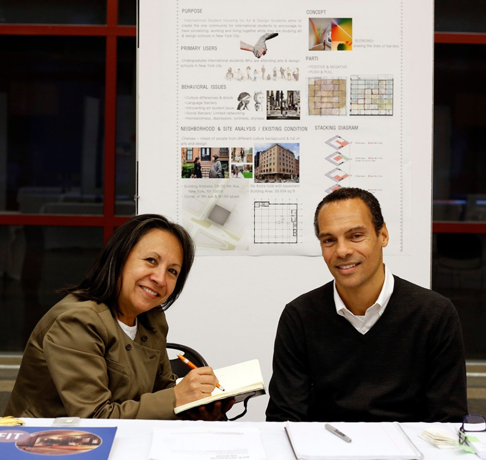 Camita Sanchez-Fong, Assistant Chair, Eric Daniels, Chair, Interior Design