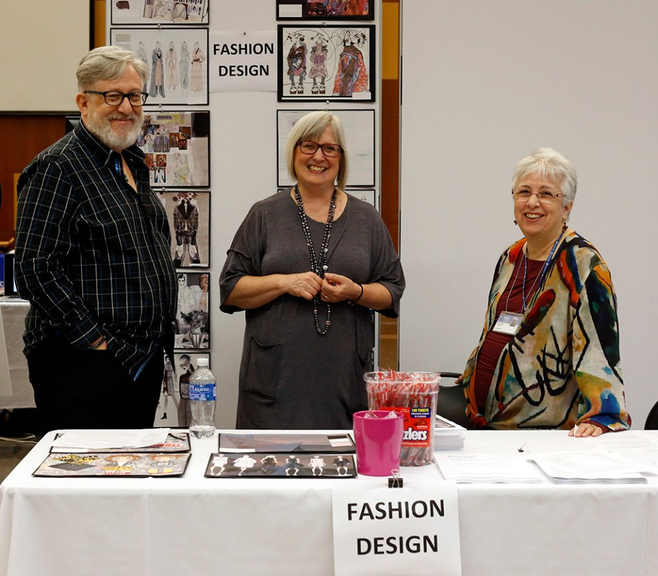 Prof. Michael Casey, Chair Eileen Karp, Prof. Mary Ann Ferro, Fashion Design