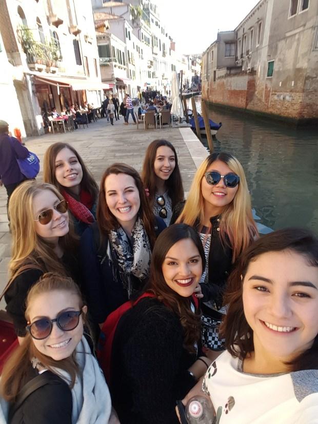 Smiles all around in Venice.