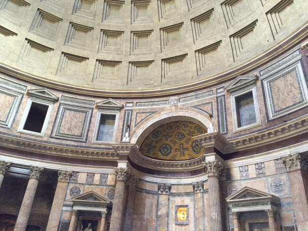 Inside of the Pantheon (note the coffers in the concrete dome)!