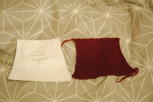 pattern piece = knitted piece = sigh of relief.
