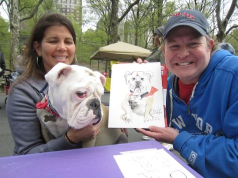 sketch at Bark Dog Walk for Cancer Society
