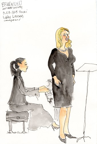concert sketched on location by Joan Chiverton