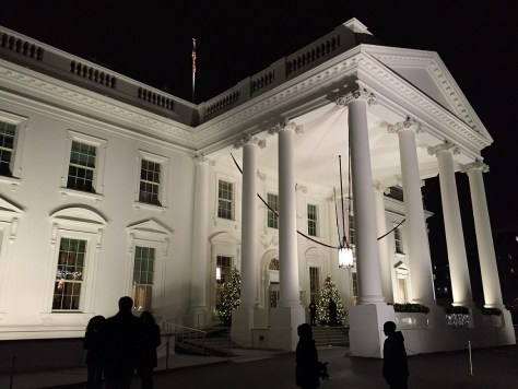 Iconic White House Exterior up close