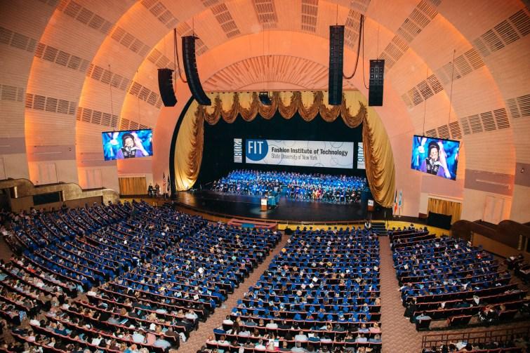 wide shot of Radio City Music Hall auditorium