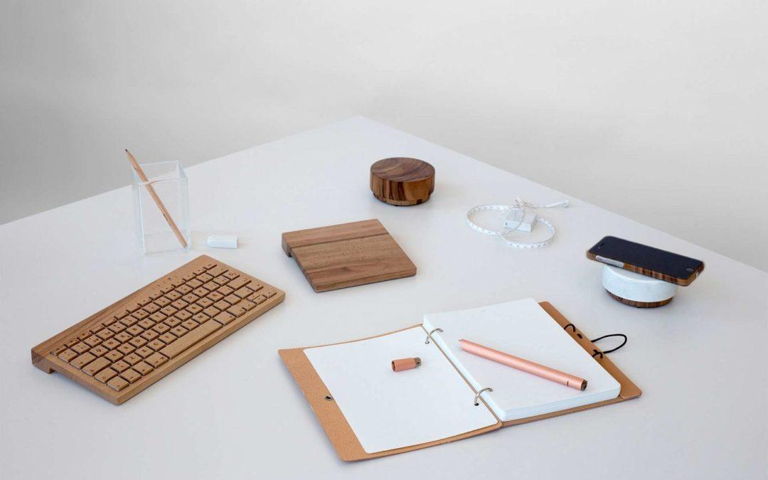Деревянные клавиатура, тачпад и даже колонка от Oree