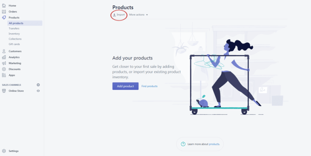 how to import products to shopify