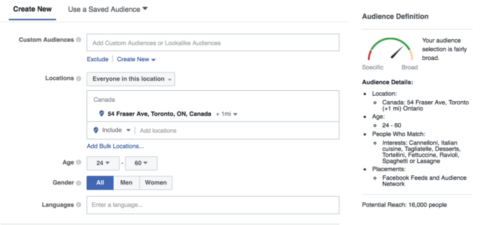 Location Targeting Facebook Ads