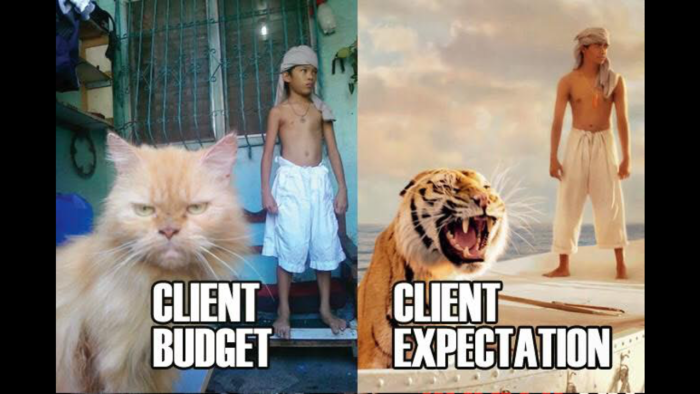 What clients expect to get from a low budget.