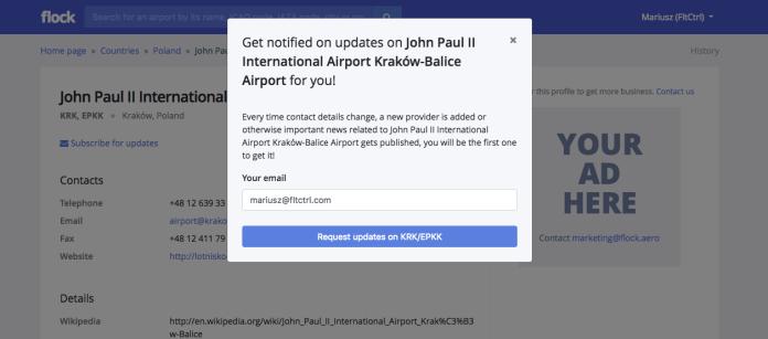 Flock Aviation Directory Notification System