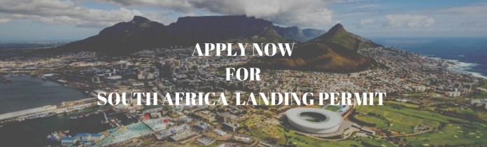 Apply to South Africa Landing Permit
