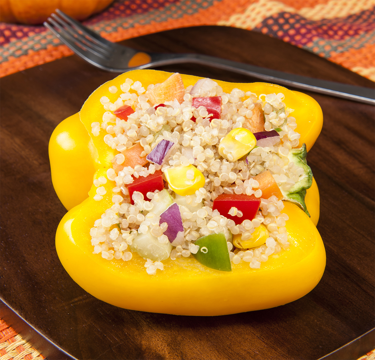 Quinoa with Corn & Peppers