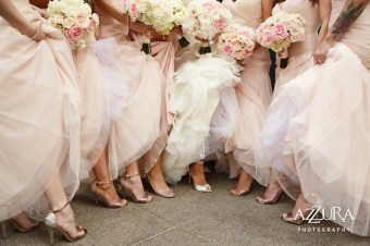 Blush bride's maids bouquets