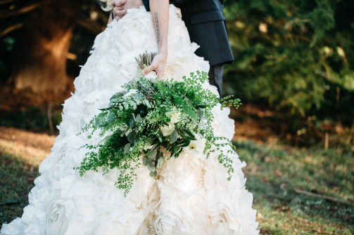 Flora Nova Design Seattle Wedding Bouquet Ferns Eucalyptus