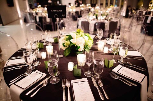 Black and White Wedding, Green Centerpiece, Contemporary Centerpiece, Ghost Chair